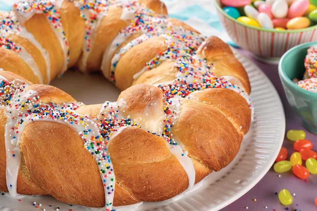 Best Easter Bread Recipe  Easter Bread Wreath Recipe