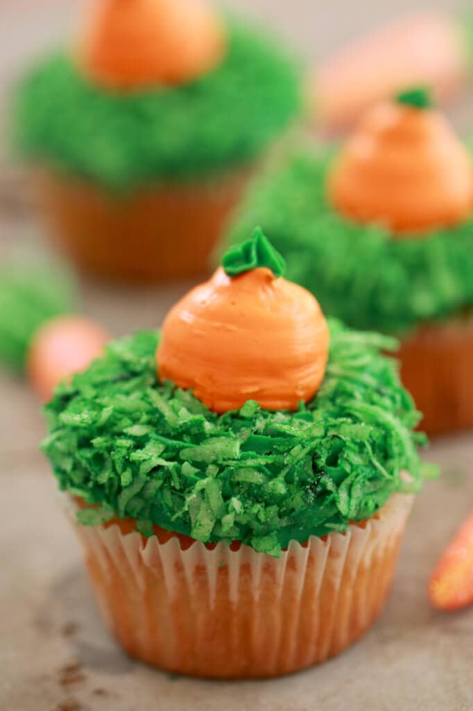 Best Easter Desserts Ever  Carrot Cake Cupcakes Small Batch Cupcakes for Spring