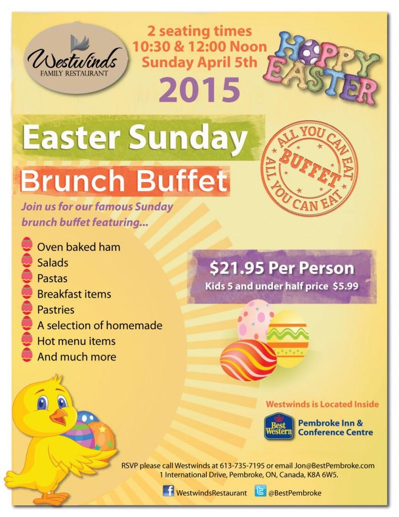 Best Easter Dinner Menu  Westwinds Family Restaurant Presents Eastern Sunday Brunch