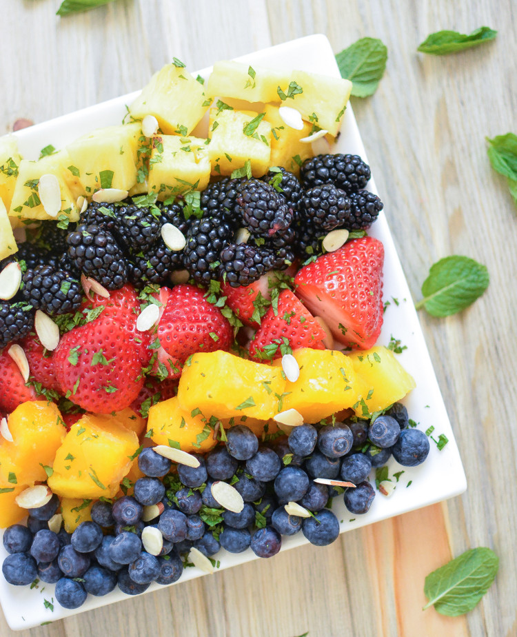 Best Easter Salads  Spring Fruit Salad with Honey Vinaigrette