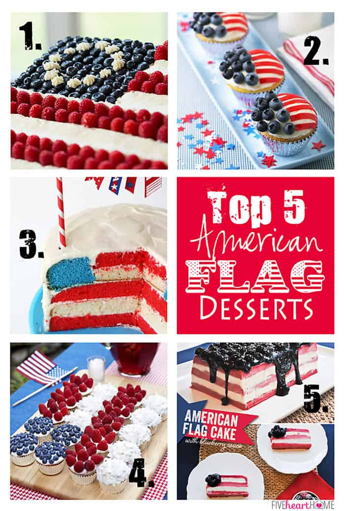 Best Fourth Of July Desserts  Features & Fun Friday 15 Top 5 Flag Desserts Fourth