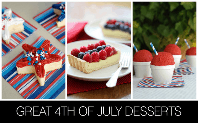Best Fourth Of July Desserts  GREAT 4TH OF JULY DESSERTS