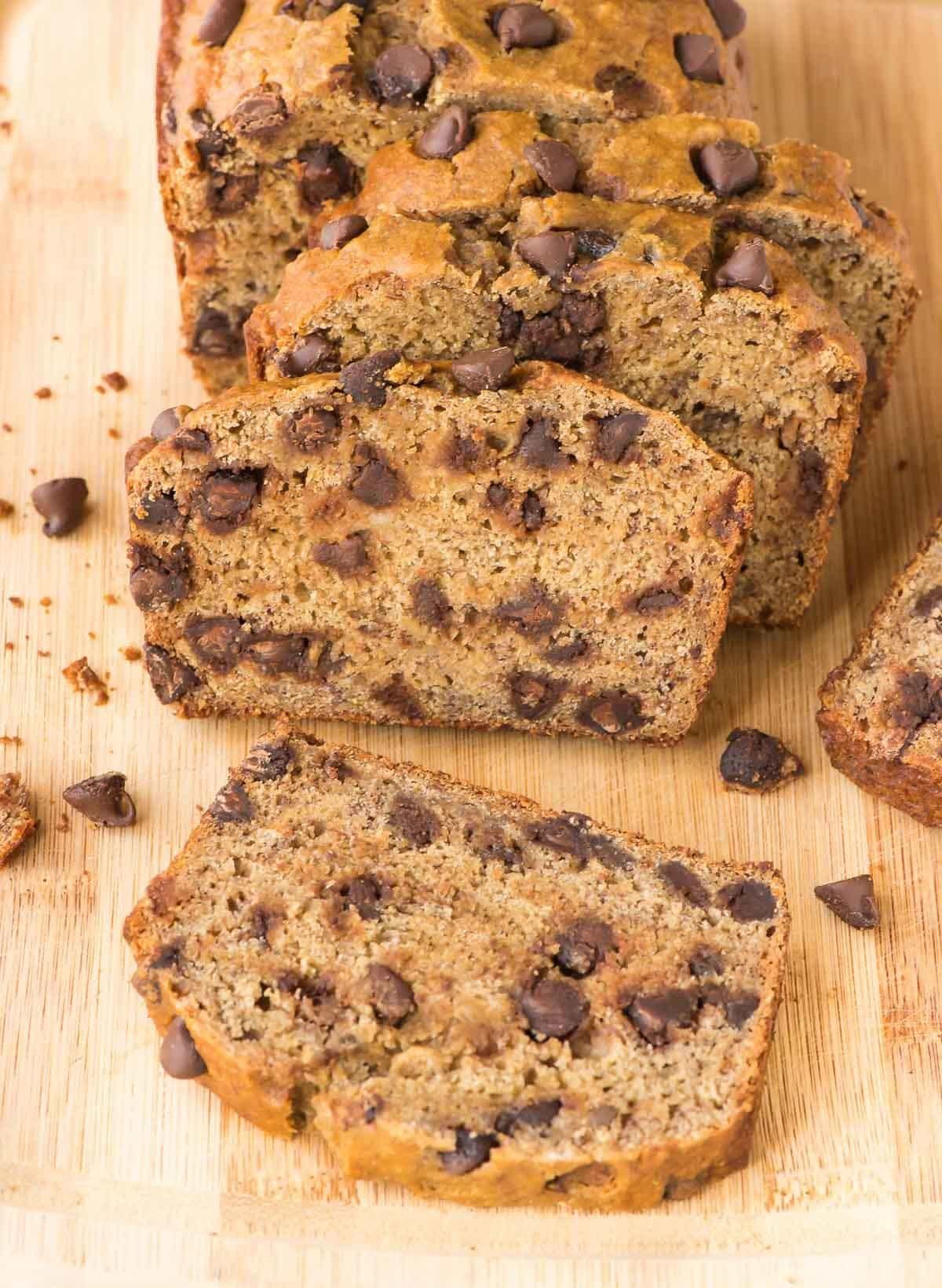 Best Healthy Banana Bread Recipe  Healthy Banana Bread Recipe with Chocolate Chips