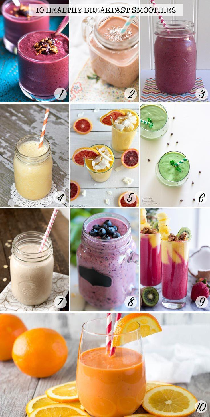 Best Healthy Breakfast Smoothies  The 25 best Healthy breakfast smoothie recipes ideas on