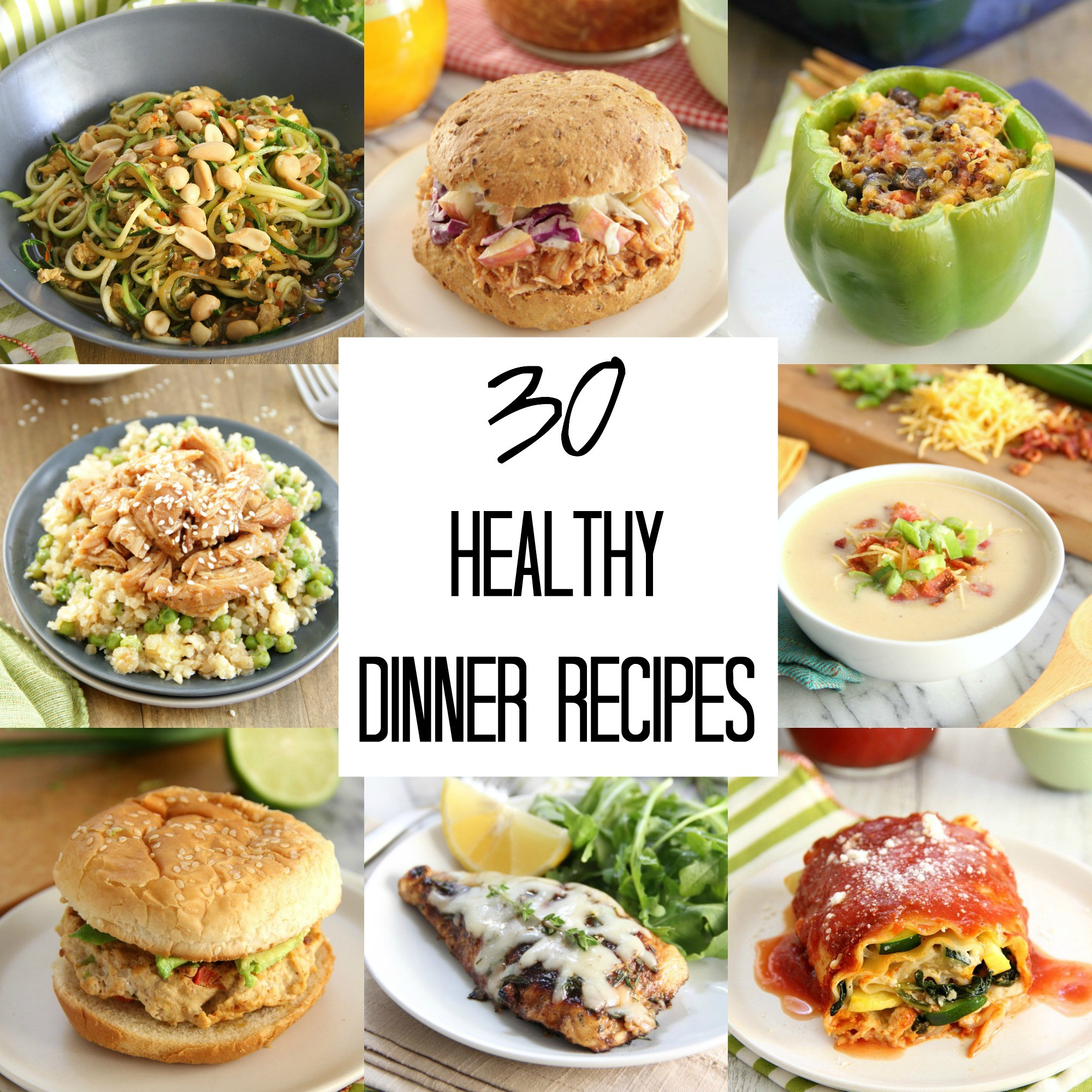 Best Healthy Dinner Recipes  30 Healthy Dinner Recipes Eat Drink Love