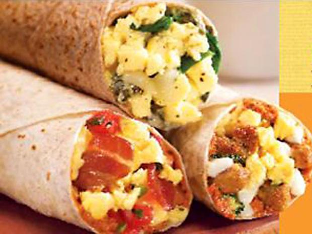 Best Healthy Fast Food Breakfast  1 Spinach florentine breakfast wrap Cosi Healthiest