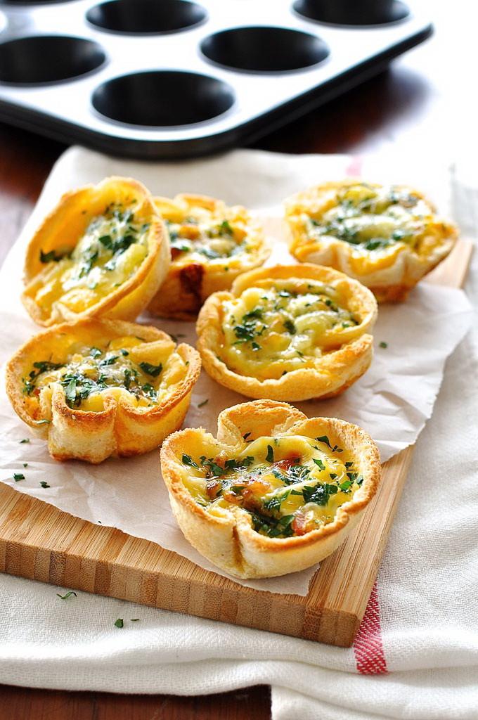 Best Healthy Fast Food Breakfast  Cheesy Egg & Bacon Toast Cup – Best Fast Healthy Breakfast