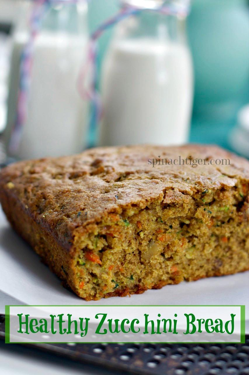 Best Healthy Zucchini Bread  Healthy Zucchini Bread Recipe Spinach Tiger