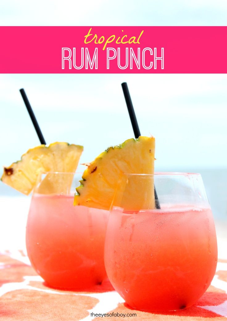 Best Rum Drinks For Summer  25 Best Ideas about Rum Punch Recipes on Pinterest