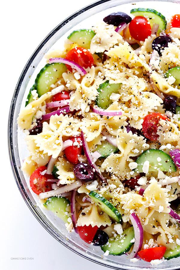 Best Summer Pasta Salad  Mediterranean Pasta Salad