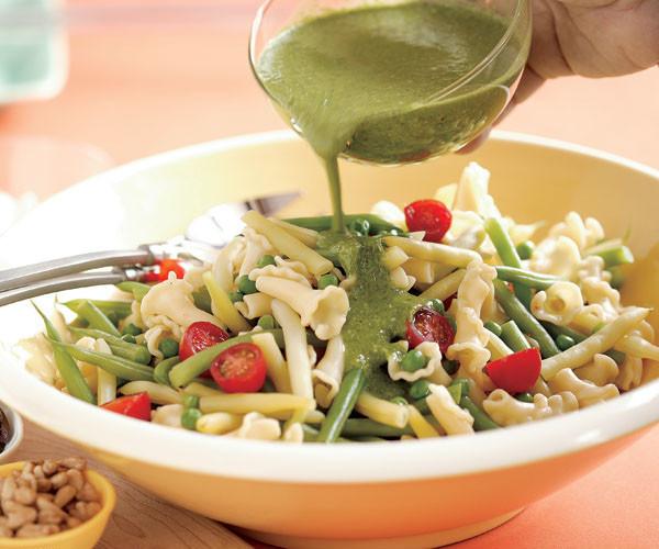 Best Summer Pasta Salad  Summer Pasta Salad with Pesto Vinaigrette Recipe