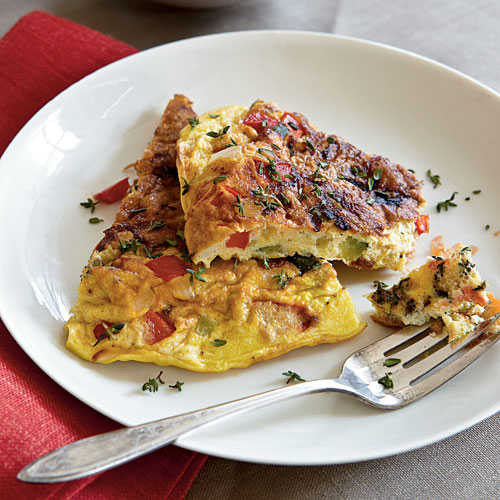 Best Summer Vegetarian Recipes  Summer Ve able Frittata Top Rated Egg Recipes