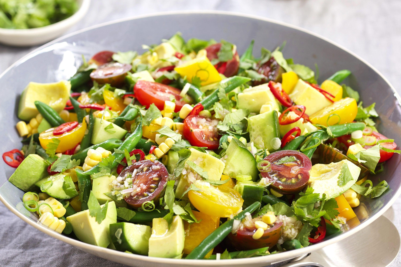 Best Summer Vegetarian Recipes  fresh ve able salad