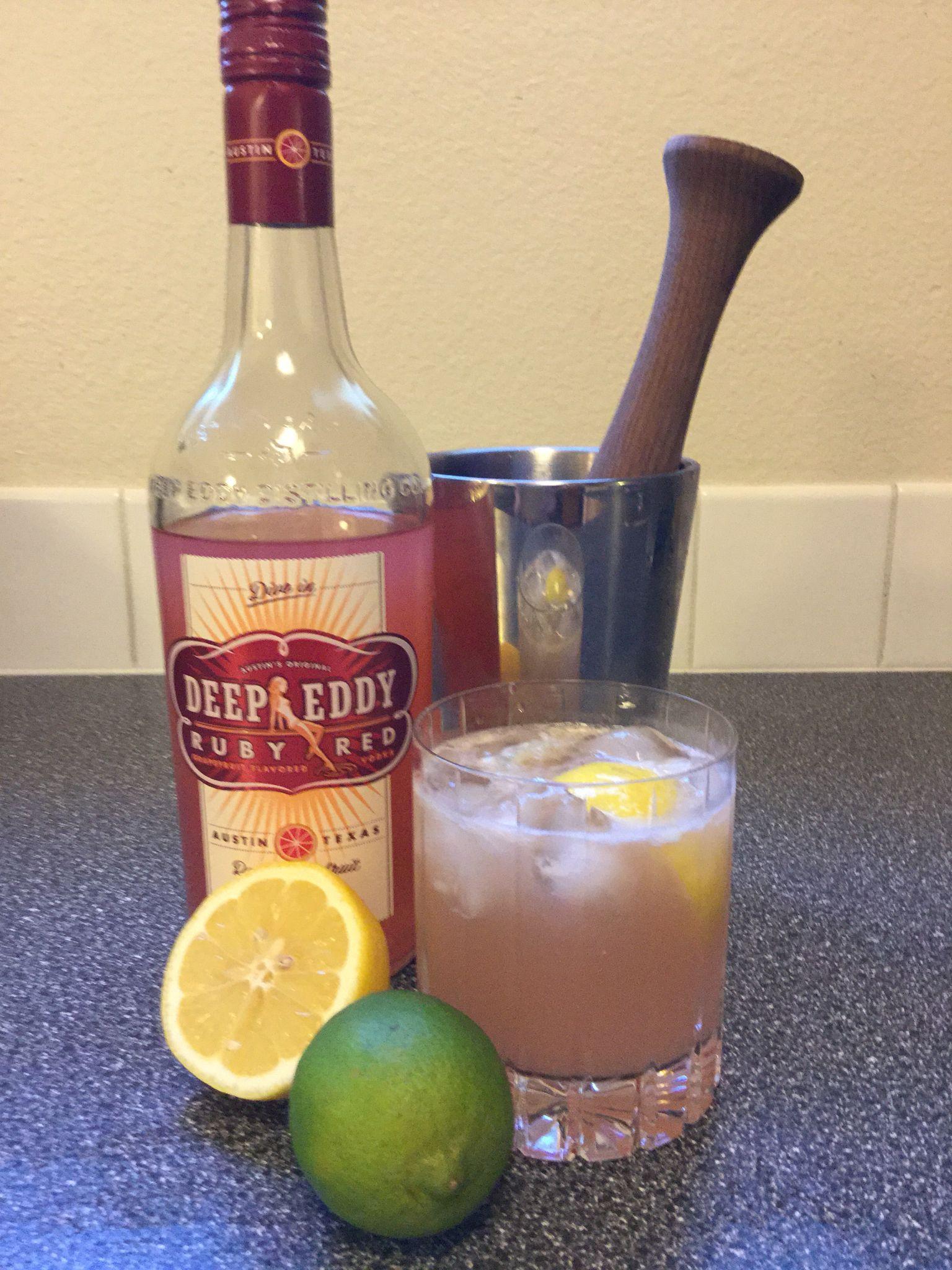 Best Summer Vodka Drinks  Best summer time drink 2 parts Deep Eddy Grapefruit Vodka