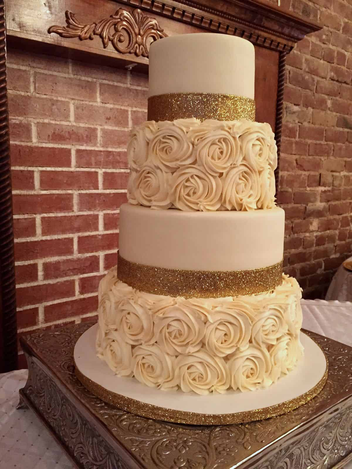 Best Wedding Cake Recipes  gold wedding cakes 14 best photos Cute Wedding Ideas