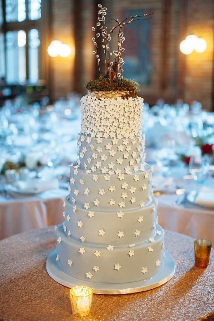 Best Wedding Cakes Chicago  Whimsical Baby Blue Wedding Cake