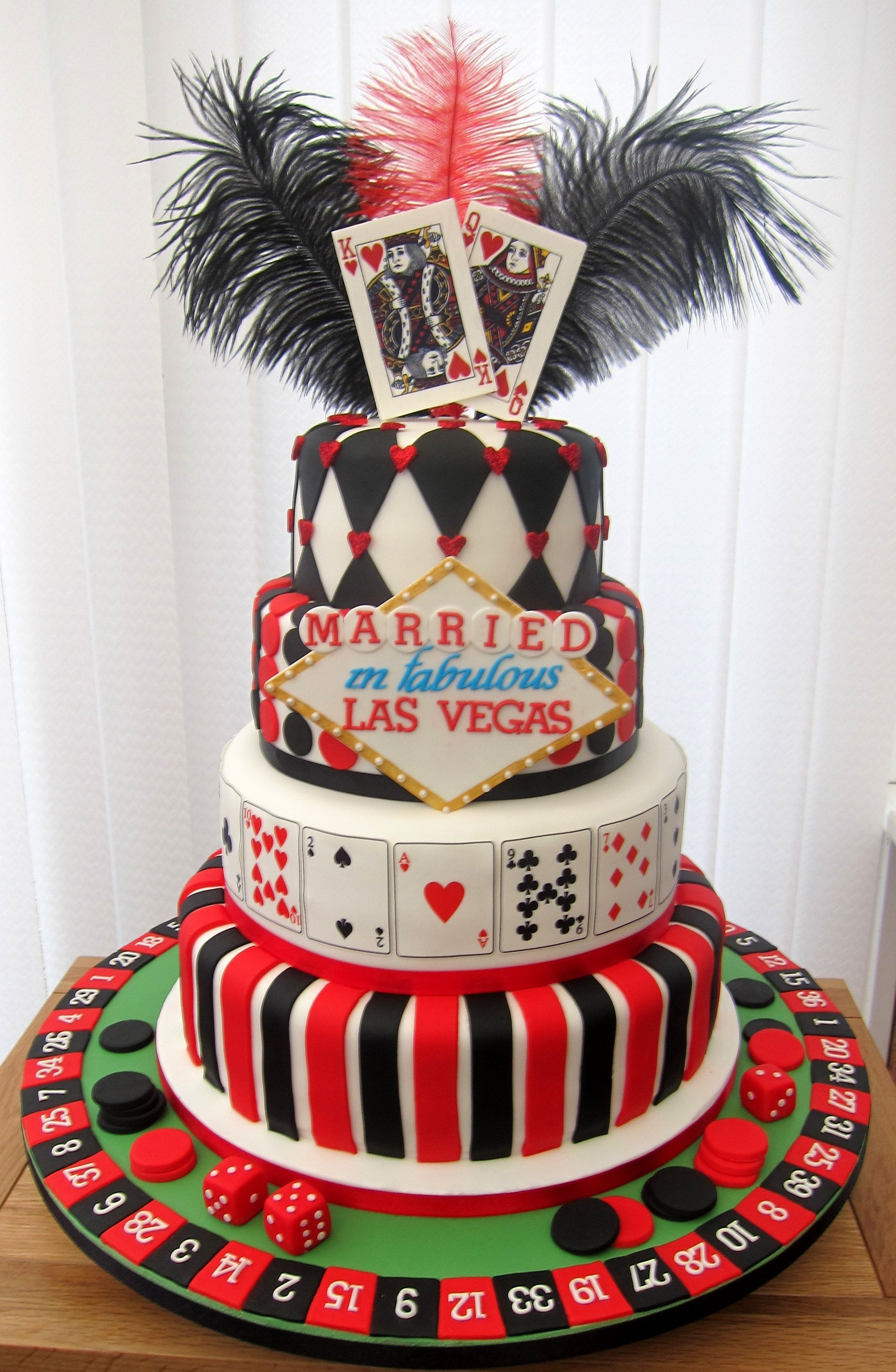 Best Wedding Cakes Las Vegas  Wedding cake for a couple who were married in vegas and