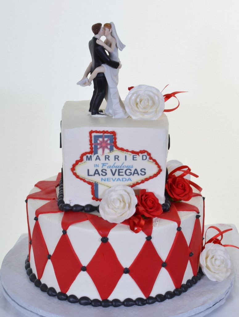 Best Wedding Cakes Las Vegas  Kissing Couple Bride & Groom Cake Topper