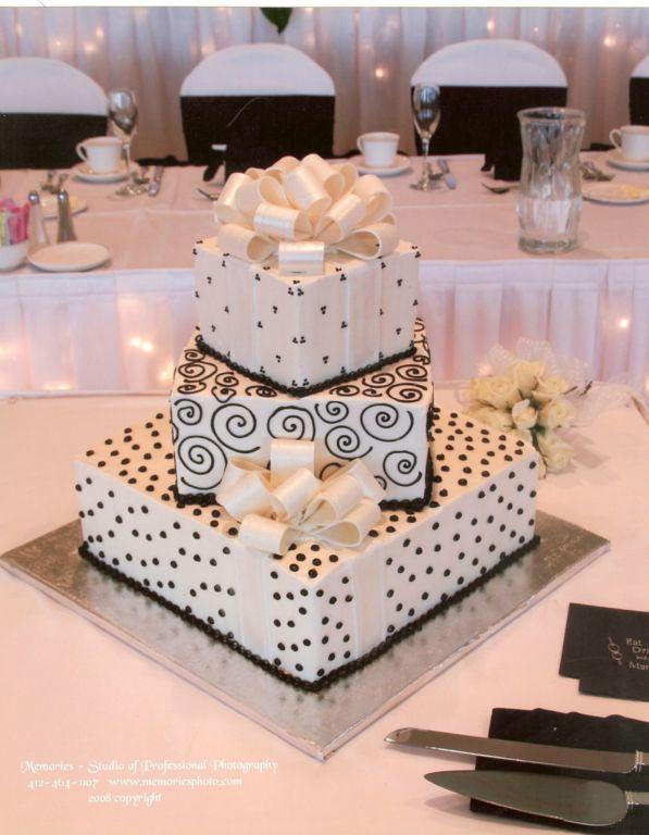 Bethel Bakery Wedding Cakes  Bethel Bakery Wedding Cake Present Cake with Black
