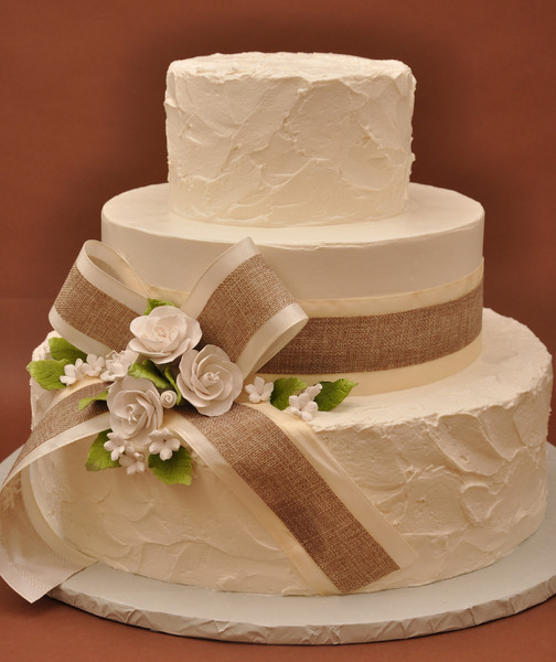 Bethel Bakery Wedding Cakes  Pure And Simple With Burlap Bethel Park