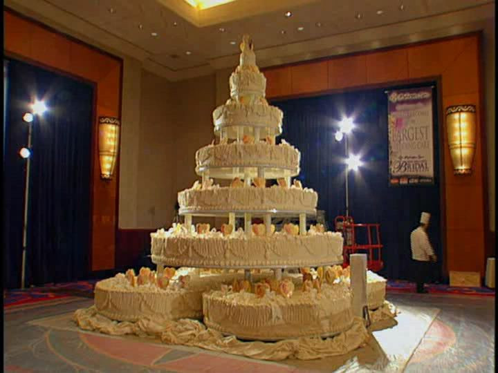 Biggest Wedding Cakes Ever  st wedding cake Stunning Display of st Wedding