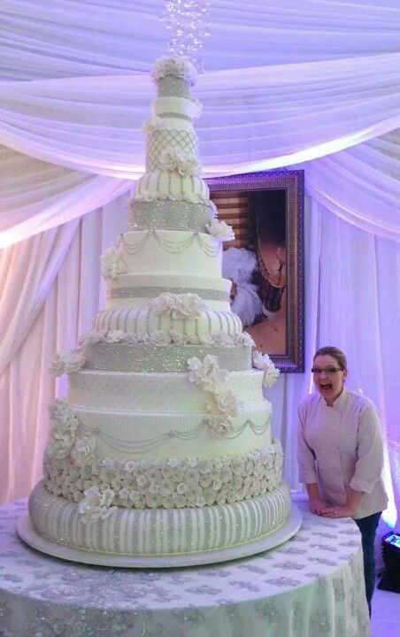 Biggest Wedding Cakes Ever  Swarovski crystals Swarovski and Wedding on Pinterest