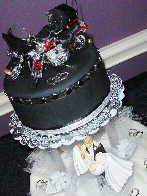 Biker Wedding Cakes  Biker wedding cake