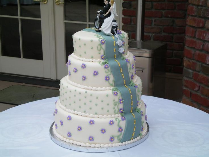 Biker Wedding Cakes  14 best images about Wedding Cakes on Pinterest