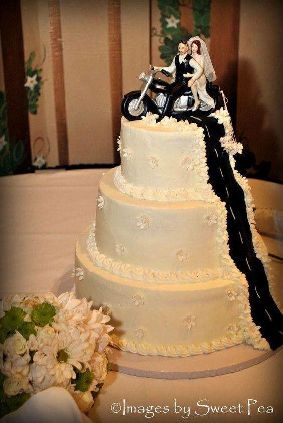 Biker Wedding Cakes  9 best Biker wedding ideas images on Pinterest