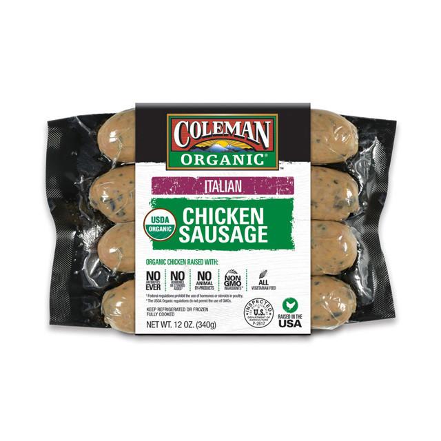 Bilinski'S Organic Chicken Sausage  Italian Sausage and Pepper Skillet