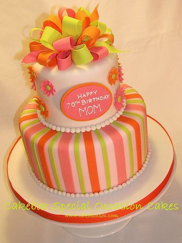 Birthday Cake For Mother  Mom s 70th Birthday Cake by Cakebox Special Occasion Cakes