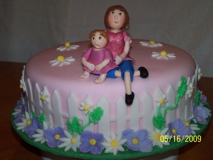 Birthday Cake For Mother  Mother & Daughter Birthday Cake CakeCentral