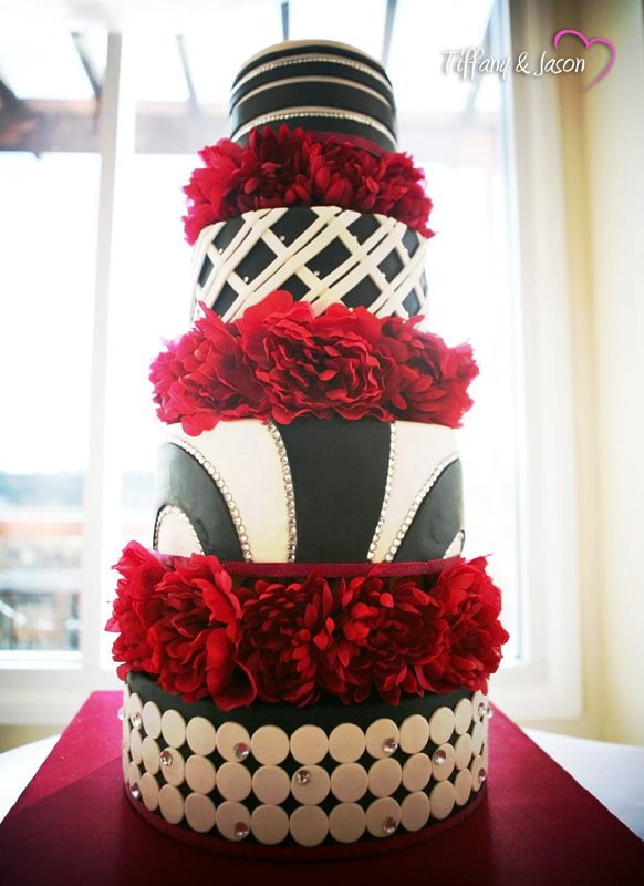 Black And Red Wedding Cakes  Southern Blue Celebrations Red Wedding Cake Inspirations