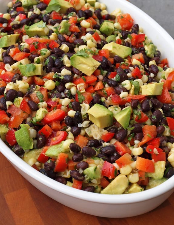 Black Bean Salad Recipes Healthy  Black Bean Salad with Corn Red Peppers Avocado & Lime