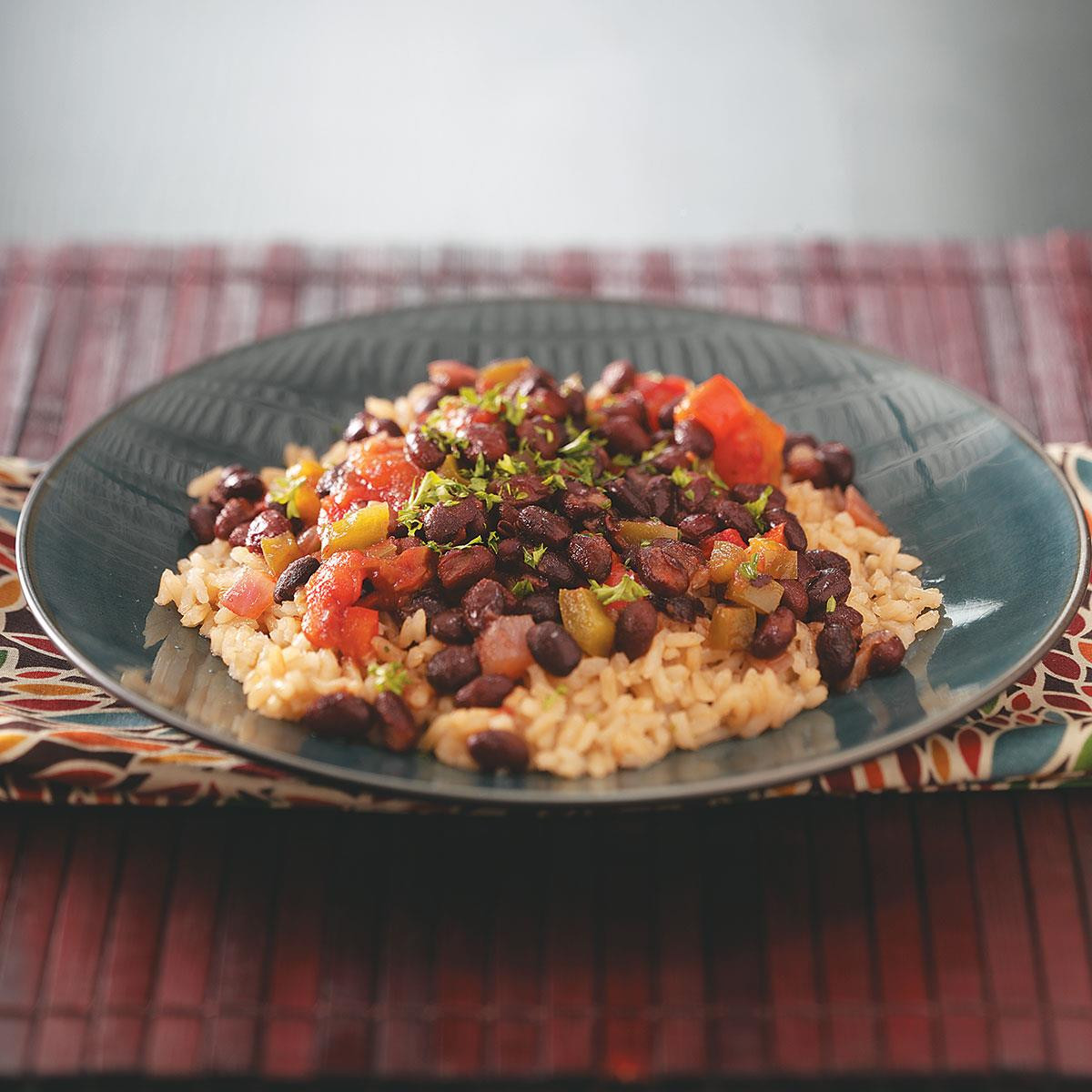 Black Beans And Brown Rice Healthy  Black Beans with Brown Rice Recipe
