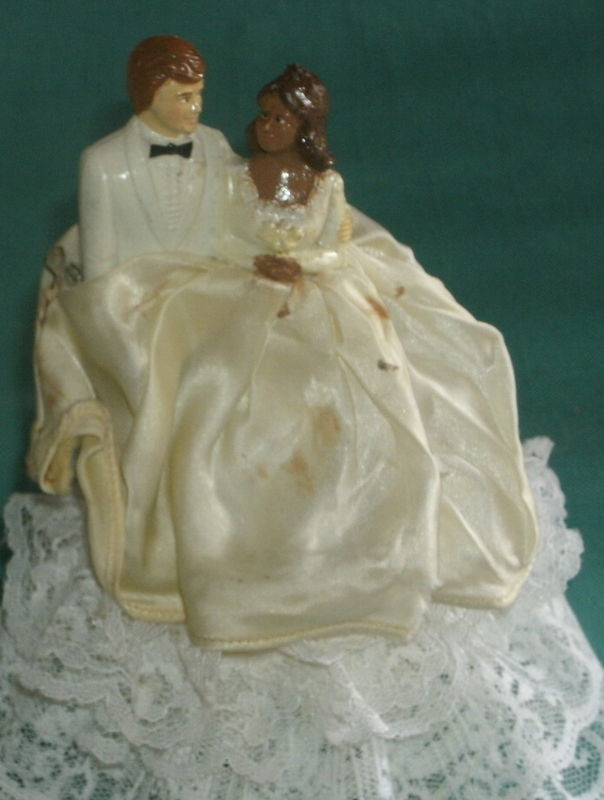 Black Groom White Bride Wedding Cake Toppers  17 Best images about wedding cake topper on Pinterest