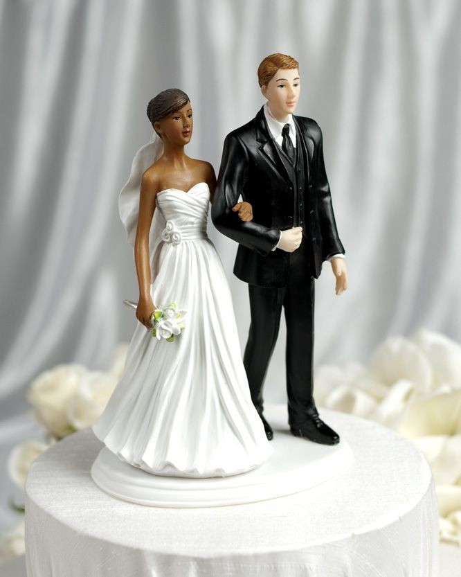 Black Groom White Bride Wedding Cake Toppers  32 best Interracial wedding cake topper images on