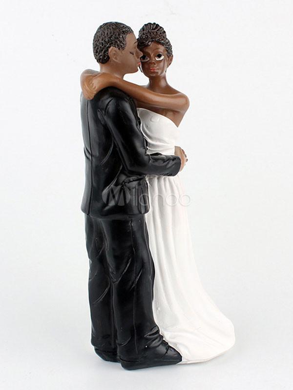 Black Groom White Bride Wedding Cake Toppers  Wedding Cake Toppers Black Groom White Bride Wedding