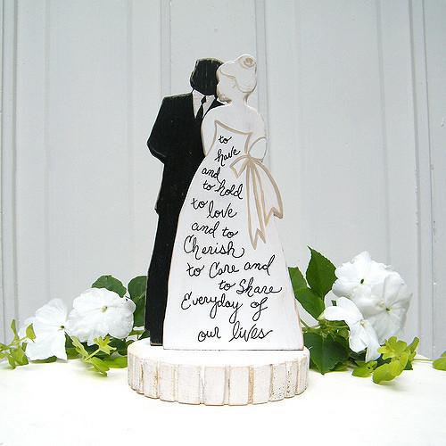 Black Groom White Bride Wedding Cake Toppers  NEW Bride and Groom Silhouette Wedding Cake Topper