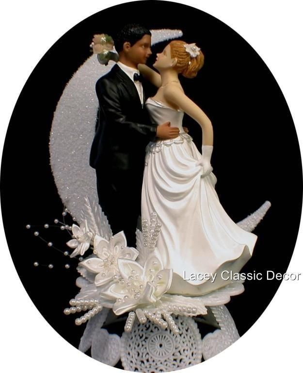 Black Groom White Bride Wedding Cake Toppers  1000 images about wedding cakes on Pinterest