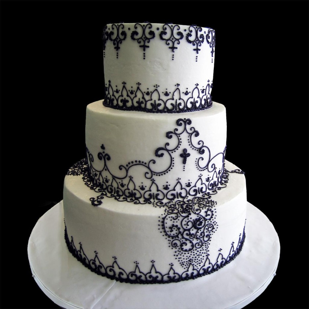 Black White Wedding Cake  Wedding Cakes for your Memorable Day Ohh My My