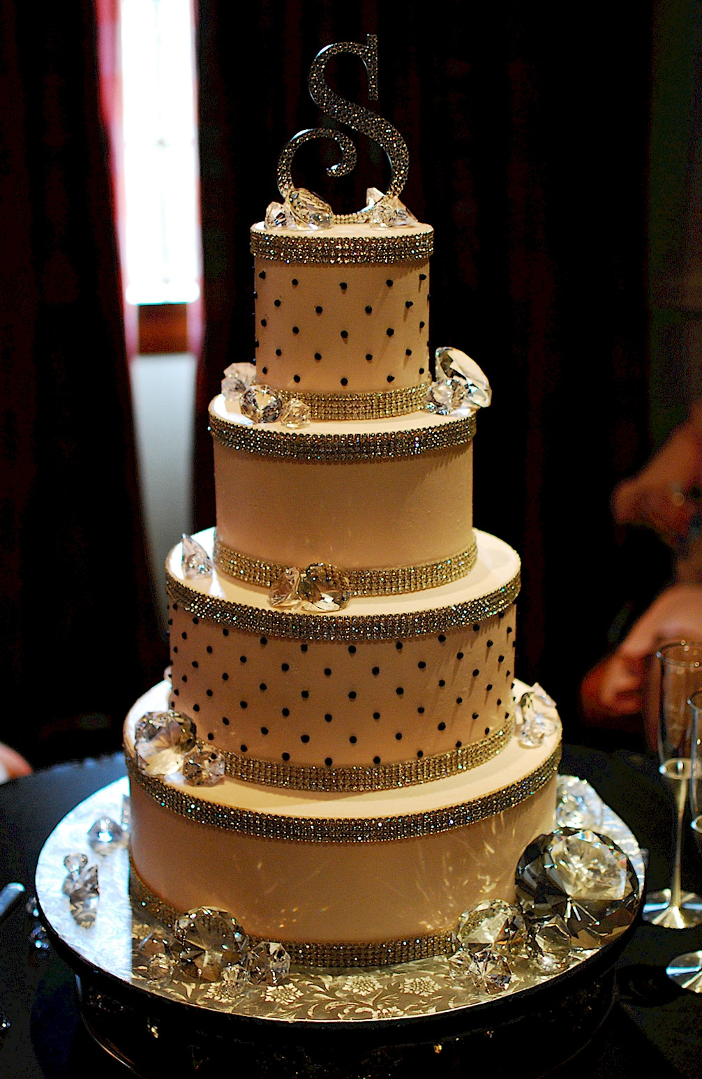 Bling Wedding Cakes  Cup a Dee Cakes Blog Super Bling Diamond Wedding Cake