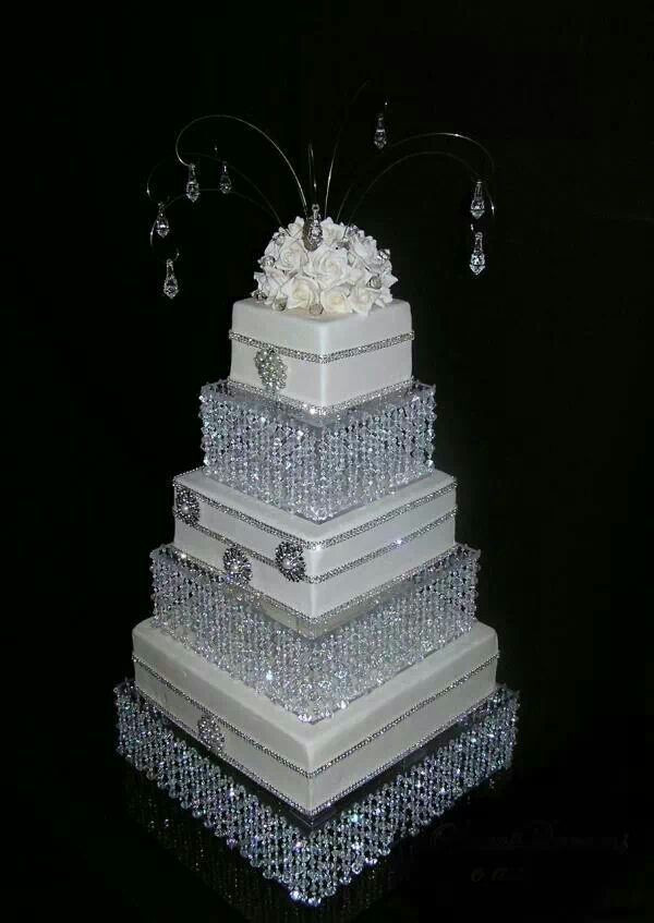 Blinged Out Wedding Cakes  Major blinged out crystal wedding cake Cakes