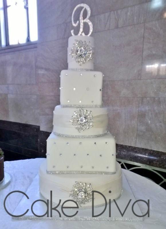 Blinged Out Wedding Cakes  Blinged out Wedding Cake Wedding Cakes