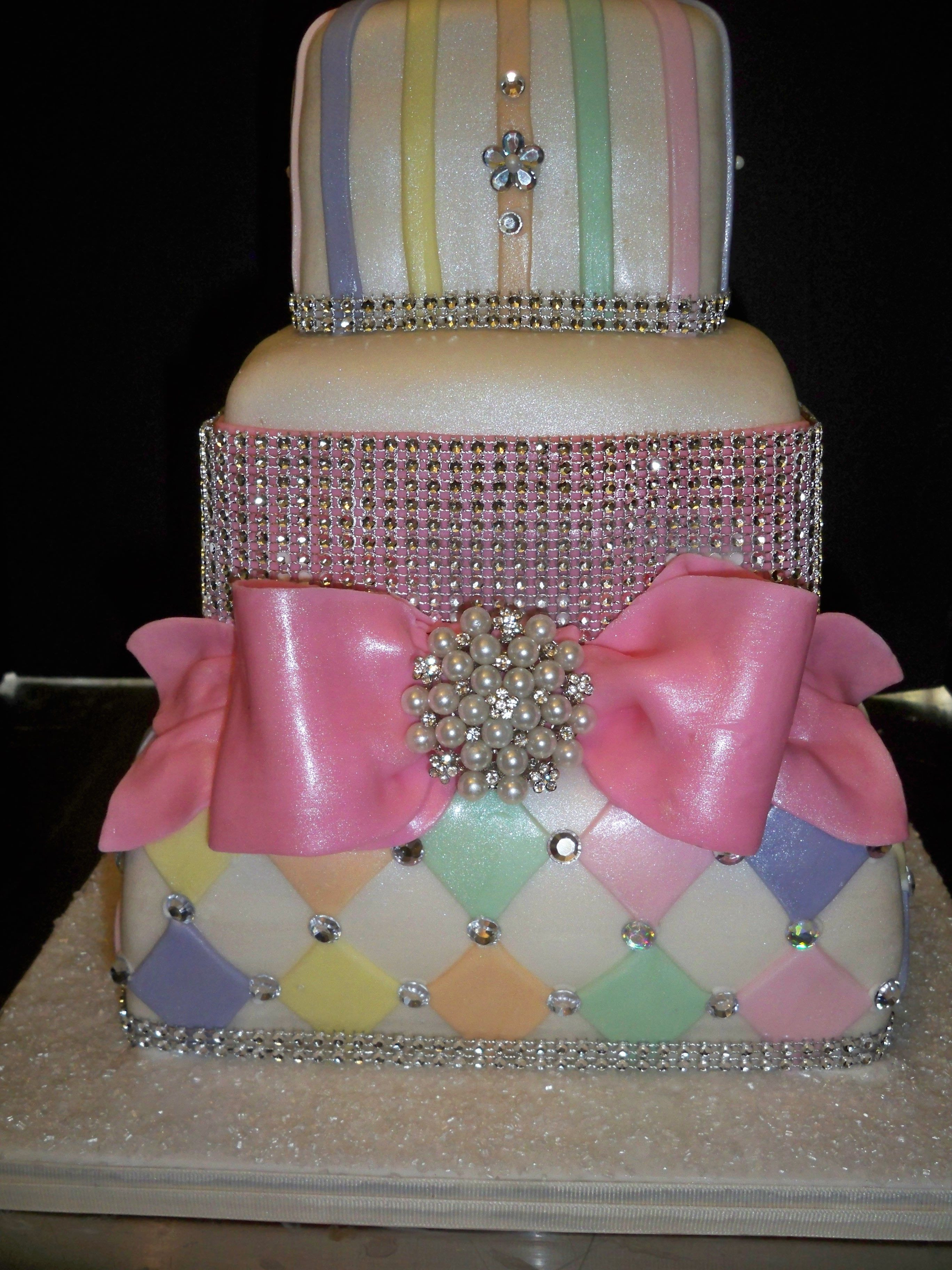 Blinged Out Wedding Cakes  Blinged out Bridal Shower cake is lemon blueberry by