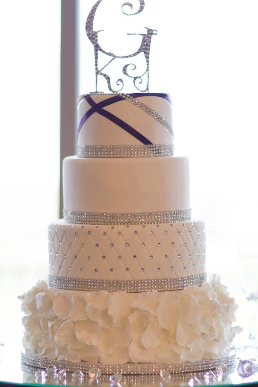 Blinged Out Wedding Cakes  Blinged Out Wedding Cake CakeCentral