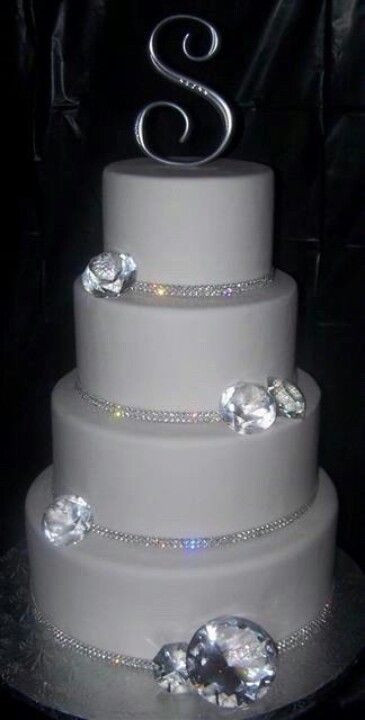 Blinged Out Wedding Cakes  Blinged out wedding cake Food ♥ Pinterest