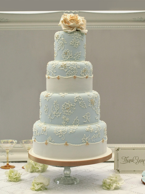 Blue And Gold Wedding Cakes  Wedding Cakes Archive