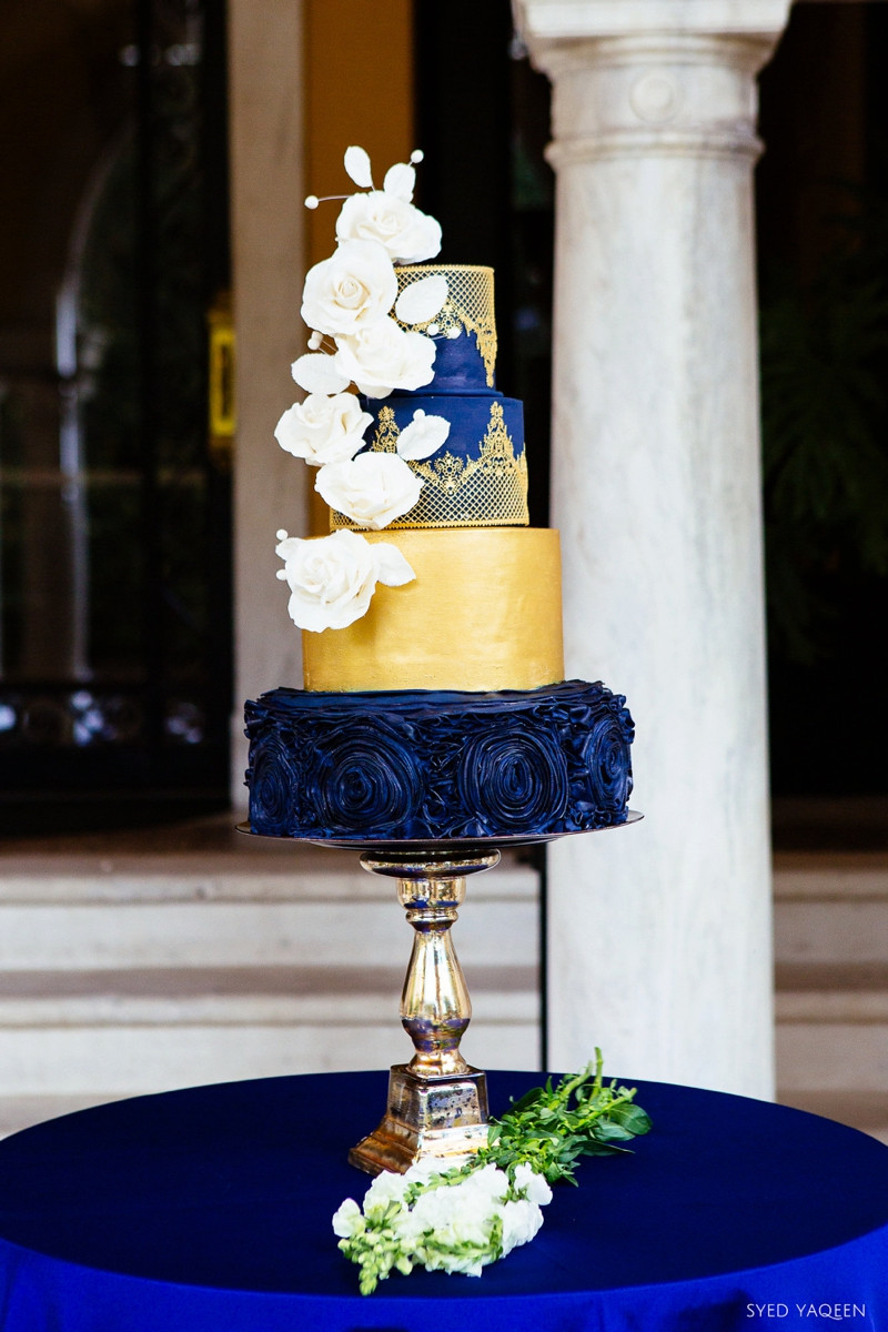 Blue And Gold Wedding Cakes  Blue & Gold Celestial Inspired Wedding Ideas
