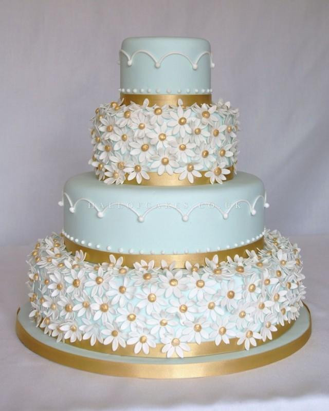 Blue And Gold Wedding Cakes  Cake Blue And Gold Cake Weddbook